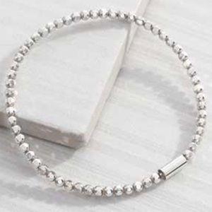 Silpada Sterling Silver Charlotte Stretch Bracelet